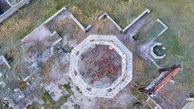 Καταστροφές των εγκαταστάσεων ανθρακικού καλίου στη Αντιόχεια, Νεμπράσκα Στοκ φωτογραφία με δικαίωμα ελεύθερης χρήσης