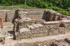 Καταστροφές των θερμικών λουτρών Diocletianopolis, πόλη Hisarya, Βουλγαρία Στοκ Εικόνα