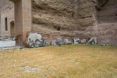 Καταστροφές των λουτρών Caracalla - Terme Di Caracalla Στοκ Εικόνα