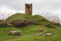 Καταστροφές των νεκρικών μνημείων κατά μήκος του αρχαίου τρόπου Appian κοντά στη Ρώμη Στοκ Εικόνες