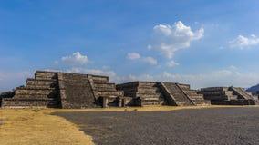 Καταστροφές των πυραμίδων της Pre-Columbian πόλης Teotihuacan, Μεξικό Στοκ φωτογραφίες με δικαίωμα ελεύθερης χρήσης