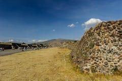 Καταστροφές των πυραμίδων της Pre-Columbian πόλης Teotihuacan, Μεξικό Στοκ Εικόνες