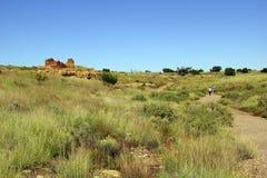 Καταστροφές των σπιτιών του Lomaki Pueblo Στοκ Φωτογραφία