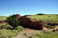 Καταστροφές των σπιτιών του Lomaki Pueblo Στοκ Εικόνες