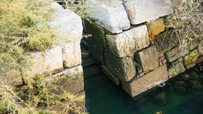 Καταστροφές υδρομύλων παλίρροιας Στοκ Φωτογραφία