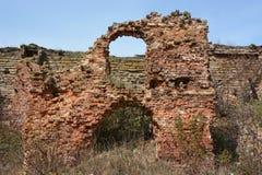 καταστροφές Φρούριο Oreshek σε Shlisselburg στοκ εικόνα