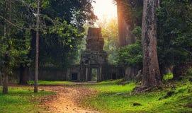 Καταστροφές Angkor Wat, μέρος του Khmer ναού σύνθετο, Ασία Siem Ρ Στοκ Εικόνες