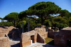 Καταστροφές Antica Ostia, Ευρώπη Στοκ Εικόνα