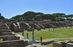 Καταστροφές Antica Ostia Στοκ εικόνα με δικαίωμα ελεύθερης χρήσης