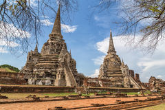 καταστροφές ayutthaya Στοκ Φωτογραφία