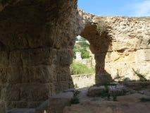 Καταστροφές Carthago της πρωτεύουσας του αρχαίου Καρθαγινικού πολιτισμού Περιοχή παγκόσμιων κληρονομιών της ΟΥΝΕΣΚΟ στοκ εικόνα