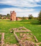 Καταστροφές Circo Di Massenzio του πύργου riuns επάνω μέσω Appia, ή Appian Στοκ φωτογραφία με δικαίωμα ελεύθερης χρήσης