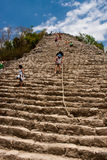 καταστροφές coba piramids Στοκ Εικόνα