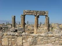 Καταστροφές Hierapolis σε Denizli, Τουρκία Στοκ Φωτογραφία