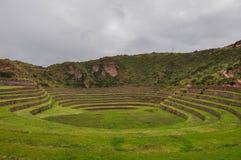 Καταστροφές Inca Moray, Περού Στοκ Φωτογραφίες