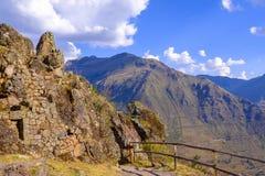 Καταστροφές Inca Pisaq στο Περού στοκ εικόνες