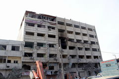 Καταστροφές khadra Abu Στοκ εικόνες με δικαίωμα ελεύθερης χρήσης
