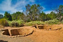 Καταστροφές Kiva σε Mesa Verde στοκ εικόνα με δικαίωμα ελεύθερης χρήσης