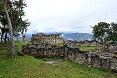Καταστροφές Kuelap, η χαμένη πόλη Chachapoyas, Περού Στοκ Εικόνες