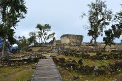 Καταστροφές Kuelap, η χαμένη πόλη Chachapoyas, Περού Στοκ φωτογραφία με δικαίωμα ελεύθερης χρήσης