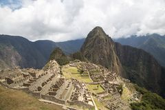 Καταστροφές Picchu Inca Machu Στοκ εικόνα με δικαίωμα ελεύθερης χρήσης