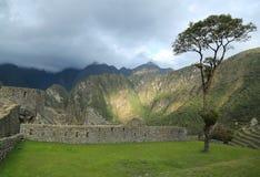 Καταστροφές Picchu Machu στο Περού Περιοχή παγκόσμιων κληρονομιών της ΟΥΝΕΣΚΟ από το 1983 Στοκ εικόνα με δικαίωμα ελεύθερης χρήσης