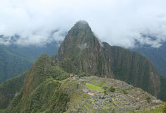 Καταστροφές Picchu Machu στο Περού Περιοχή παγκόσμιων κληρονομιών της ΟΥΝΕΣΚΟ από το 1983 Στοκ φωτογραφία με δικαίωμα ελεύθερης χρήσης