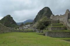Καταστροφές Picchu Machu στο Περού Περιοχή παγκόσμιων κληρονομιών της ΟΥΝΕΣΚΟ από το 1983 Στοκ Φωτογραφία