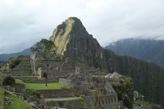 Καταστροφές Picchu Machu στο Περού Περιοχή παγκόσμιων κληρονομιών της ΟΥΝΕΣΚΟ από το 1983 Στοκ Εικόνα