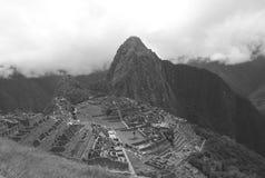 Καταστροφές Picchu Machu στο Περού Περιοχή παγκόσμιων κληρονομιών της ΟΥΝΕΣΚΟ από το 1983 Στοκ Εικόνες