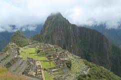 Καταστροφές Picchu Machu στο Περού Στοκ εικόνα με δικαίωμα ελεύθερης χρήσης