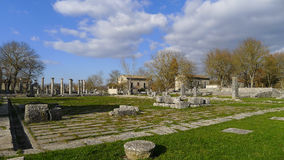 Καταστροφές Saepinum (Altilia), Molise, Ιταλία Στοκ Φωτογραφίες