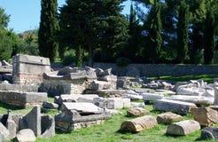 Καταστροφές Salona - ρωμαϊκή αρχαία πόλη Στοκ Φωτογραφίες