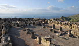 Καταστροφές Susita, θάλασσα Galilee, τα ύψη Γκολάν, Αντιόχεια Στοκ Φωτογραφίες