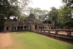 Καταστροφές TA Prohm, Angkor, Καμπότζη Στοκ Φωτογραφίες