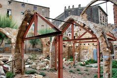 Καταστροφές Tarragona Στοκ Φωτογραφία