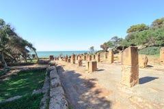Καταστροφές Tipasa (Tipaza) Η antic πόλη ήταν ένα colonia στους ρωμαϊκούς γεωμετρικούς τόπους της Μαυριτανίας Caesariensis επαρχι Στοκ Φωτογραφίες