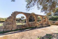 Καταστροφές Tipasa (Tipaza) Η antic πόλη ήταν ένα colonia στους ρωμαϊκούς γεωμετρικούς τόπους της Μαυριτανίας Caesariensis επαρχι Στοκ Φωτογραφία