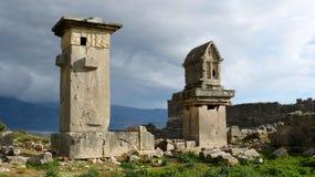 Καταστροφές Xanthos στην Τουρκία στοκ φωτογραφίες