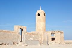 Καταστροφή ενός αρχαίου μουσουλμανικού τεμένους στο Κατάρ Στοκ Εικόνες