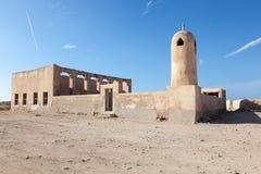 Καταστροφή ενός αρχαίου μουσουλμανικού τεμένους στο Κατάρ Στοκ εικόνες με δικαίωμα ελεύθερης χρήσης