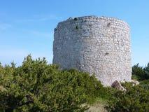 Καταστροφή ενός κροατικού κάστρου στοκ φωτογραφία με δικαίωμα ελεύθερης χρήσης