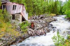 Καταστροφή κοντά στον ποταμό Στοκ Εικόνες