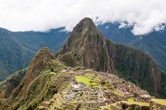Καταστροφή Περού Picchu Inca Machu στοκ εικόνες