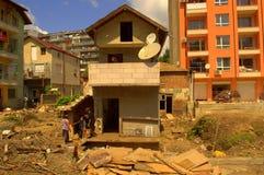 Καταστροφή που πλημμυρίζει τη Βάρνα Βουλγαρία Στοκ Φωτογραφίες
