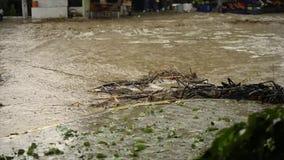 Καταστροφή πλημμυρών στο χωριό του Ιζμίρ Bayindir Στην Κυριακή στις 4 Ιουνίου το καλοκαίρι Η ακραία βροχή προκάλεσε την πλημμύρα φιλμ μικρού μήκους
