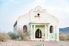 Καταστροφή της ολλανδικής ανασχηματισμένης εκκλησίας αποστολής σε Prieska στοκ εικόνες