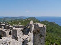 Καταστροφή του κάστρου του ST Michael σε Ugljan στοκ εικόνες με δικαίωμα ελεύθερης χρήσης