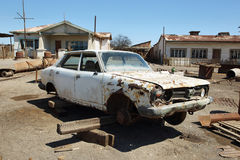 Καταστροφή του παλαιού αυτοκινήτου σε Humberstone, Χιλή στοκ φωτογραφία