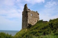 Καταστροφή του Castle Greenan σε Ayr Σκωτία στοκ εικόνα